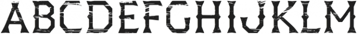 Dever Wedge Wood Regular otf (400) Font UPPERCASE