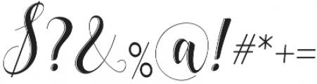 delaney Regular otf (400) Font OTHER CHARS