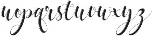 delaney Regular otf (400) Font LOWERCASE