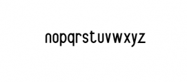 Delegation Preview Font LOWERCASE