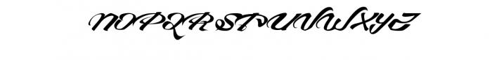 Devil East Font UPPERCASE