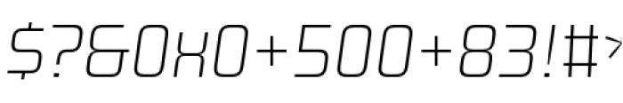Design System A 100I Font OTHER CHARS