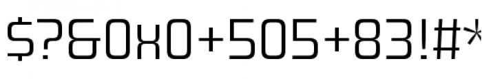 Design System A 300R Font OTHER CHARS