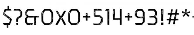 Dever Sans Print Regular Font OTHER CHARS