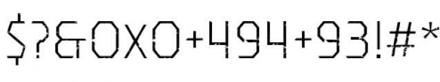 Dever Sans Rough Light Font OTHER CHARS