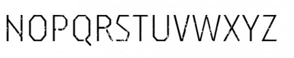 Dever Sans Rough Light Font UPPERCASE