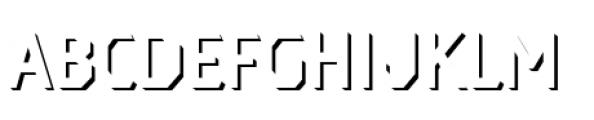 Dever Sans Shadow Regular Font UPPERCASE