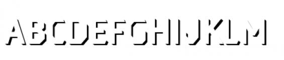 Dever Sans Shadow Regular Font LOWERCASE