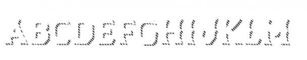 Dever Wedge Line Regular Font LOWERCASE