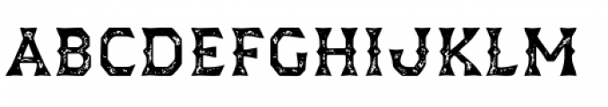 Dever Wedge Print Medium Font UPPERCASE