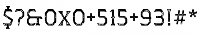 Dever Wedge Print Regular Font OTHER CHARS