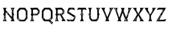 Dever Wedge Print Regular Font UPPERCASE