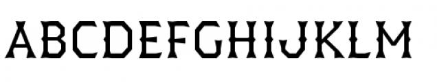 Dever Wedge Regular Font UPPERCASE