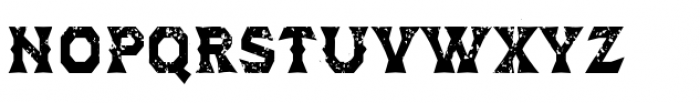 Dever Wedge Rough Bold Font UPPERCASE