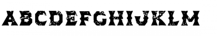 Dever Wedge Rough Bold Font LOWERCASE