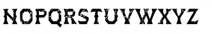 Dever Wedge Rough Medium Font UPPERCASE