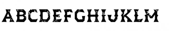 Dever Wedge Rough Medium Font LOWERCASE