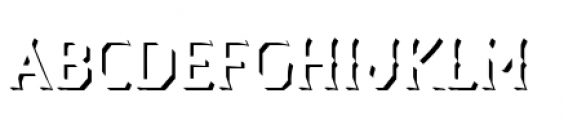 Dever Wedge Shadow Light Font LOWERCASE