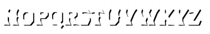 Dever Wedge Shadow Medium Font UPPERCASE