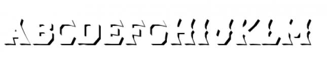 Dever Wedge Shadow Medium Font LOWERCASE
