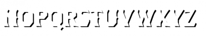 Dever Wedge Shadow Regular Font UPPERCASE