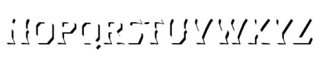 Dever Wedge Shadow Regular Font LOWERCASE