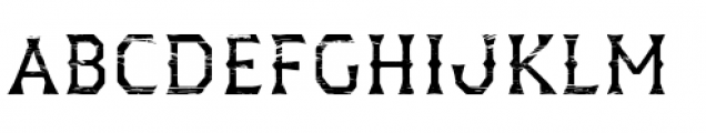 Dever Wedge Wood Regular Font UPPERCASE
