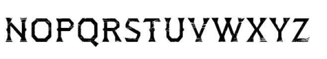 Dever Wedge Wood Regular Font LOWERCASE