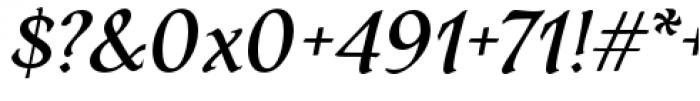 Dez Petranian Regular Italic Font OTHER CHARS