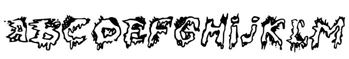 DEAD___ Font UPPERCASE