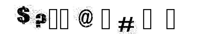 DEATHLANE Font OTHER CHARS