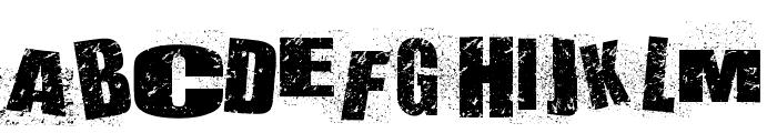 DEATHLANE Font UPPERCASE