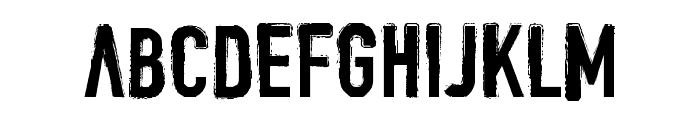 DENIAL Font UPPERCASE