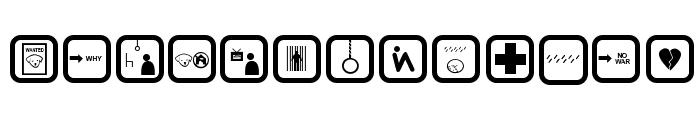 DEPRESSIVE ICONRegular Font LOWERCASE