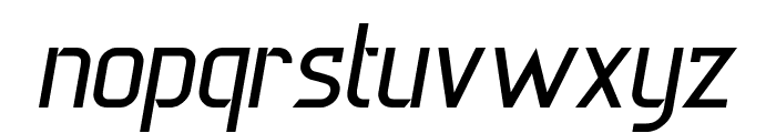 DERNIER Italic Font LOWERCASE