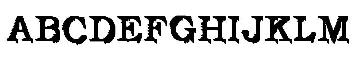 De Futura Font UPPERCASE