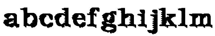 De Futura Font LOWERCASE