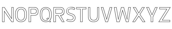 De Luxe Hollow Font UPPERCASE