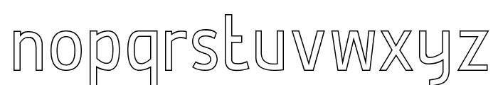 De Luxe Hollow Font LOWERCASE