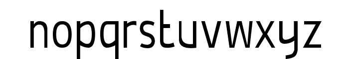 De Luxe Light Condensed Font LOWERCASE