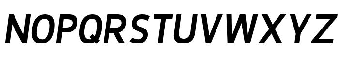 De Luxe Next Bold Italic Font UPPERCASE