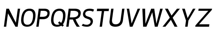 De Luxe Next Italic Font UPPERCASE