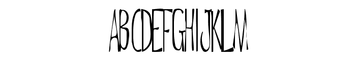 De Regular ttnorm Font UPPERCASE