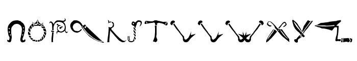 DeBalmeInitials Font LOWERCASE