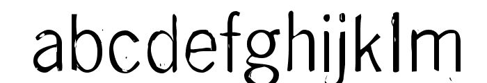 DeGenerate Font LOWERCASE