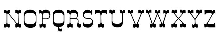 DeLouisville Font UPPERCASE