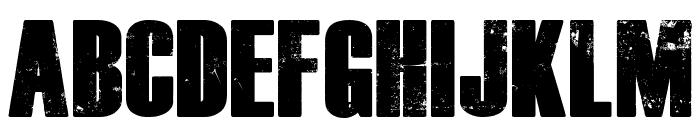 Dead Kansas Font UPPERCASE