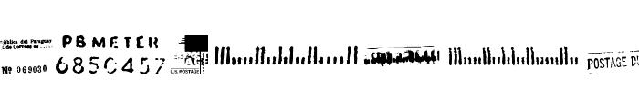 Dead Letter Office Seventeen Font UPPERCASE