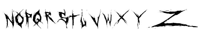 DeadBitch-Regular Font UPPERCASE