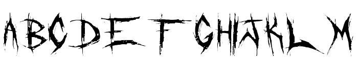 DeadBitch-Regular Font LOWERCASE